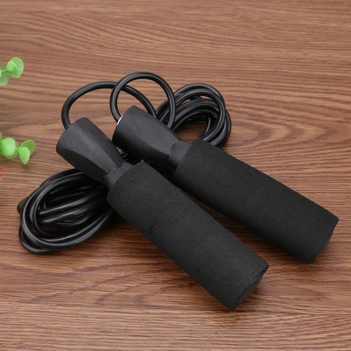 3 couleurs portant sauter corde corde vitesse Fitness aérobie saut équipement d'exercice réglable bo - Modèle: Black - HSJSTSA04738