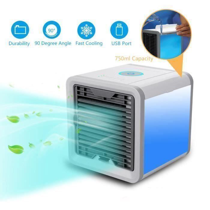 Mini Ventilateur de Climatiseur Portable Appareil de Conditionnement d'air pour Maison Bureau Vent Frais de Dispositif a744
