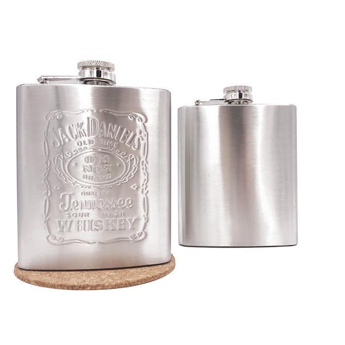 Vente chaude portable en acier inoxydable flacon de hanche bouteille d'alcool voyage whisky bouteille d'alcool flacon de hanche