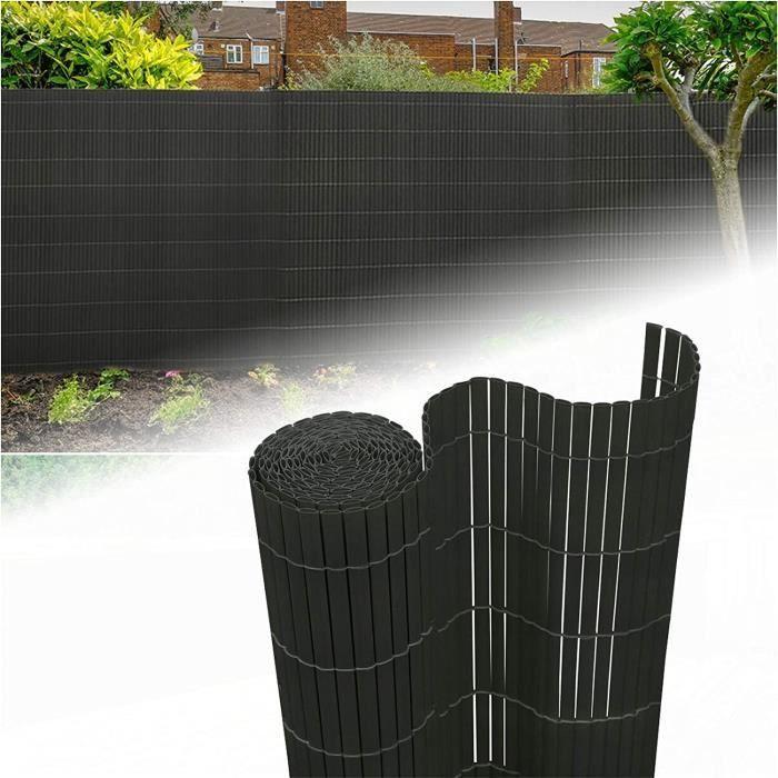TAPIS D'EXTERIEUR - TAPIS DE JARDIN Aufun Brise-vue en PVC 180 x 500 cm – Cl&ocircture brise-vue anthracite brise-vent pour jar107