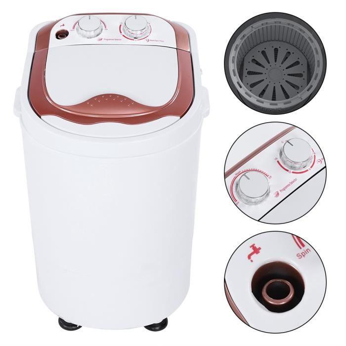 Mini machine à laver - Mini Lave Linge Machine à Laver Automatique - Economie d'eau et d'Energie HB020 Haute Qualité
