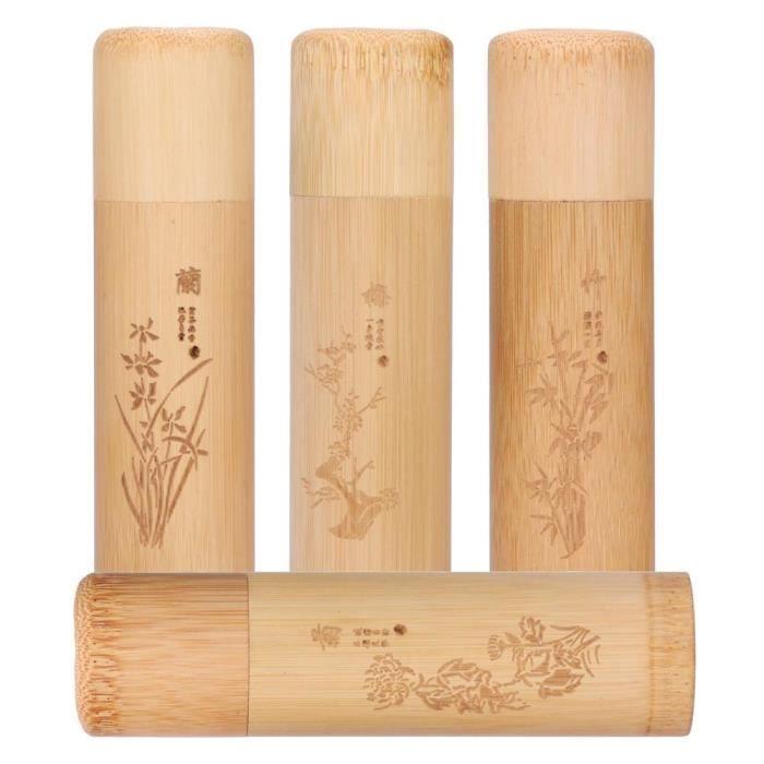 Boîte à thé en bambou naturel Boîte à thé Dirt-Proofstore Mini boîte à thé Grains de café pour le thé Noix variées