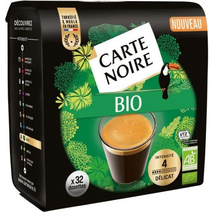 CARTE NOIRE Café dosettes Bio x32 - 200 g