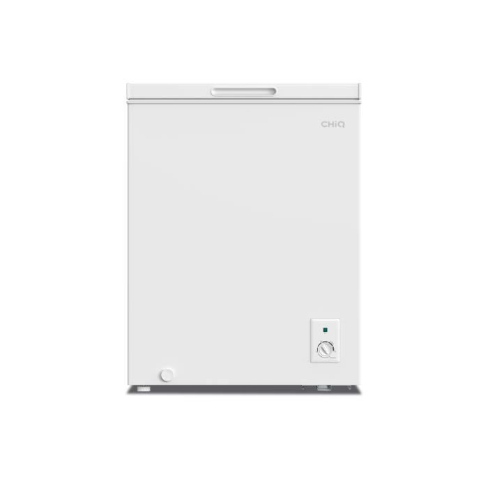 CHiQ congélateur FCF142D, 142 litres, blanche, faible consommation A+, 40db, 12 ans de garantie sur le compresseur