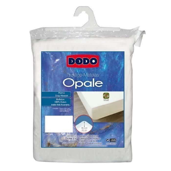 DODO Protège-matelas Opale 160x200 cm en forme de drap housse