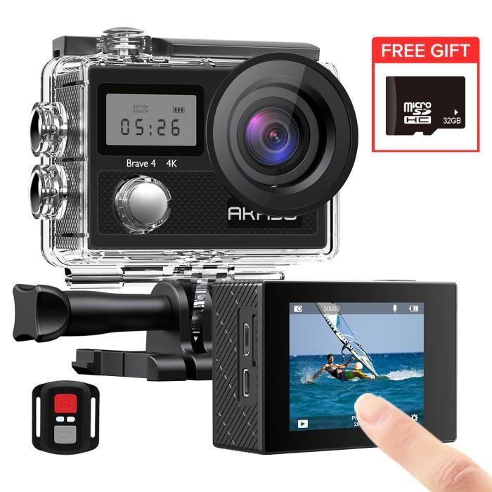 Dragon Touch 4K Action Caméra 16MP Vision 3 Pro WIFI 100ft Waterproof Caméra Ecran Tactile 2 Batteries Montage Accessoires Kits