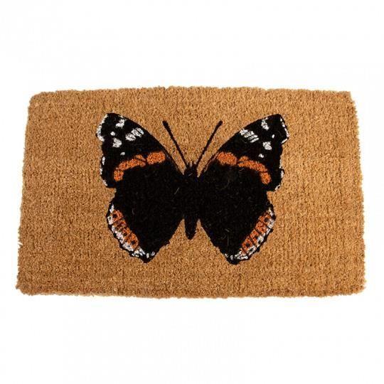 Paillasson coco imprimé papillon 75 x 45