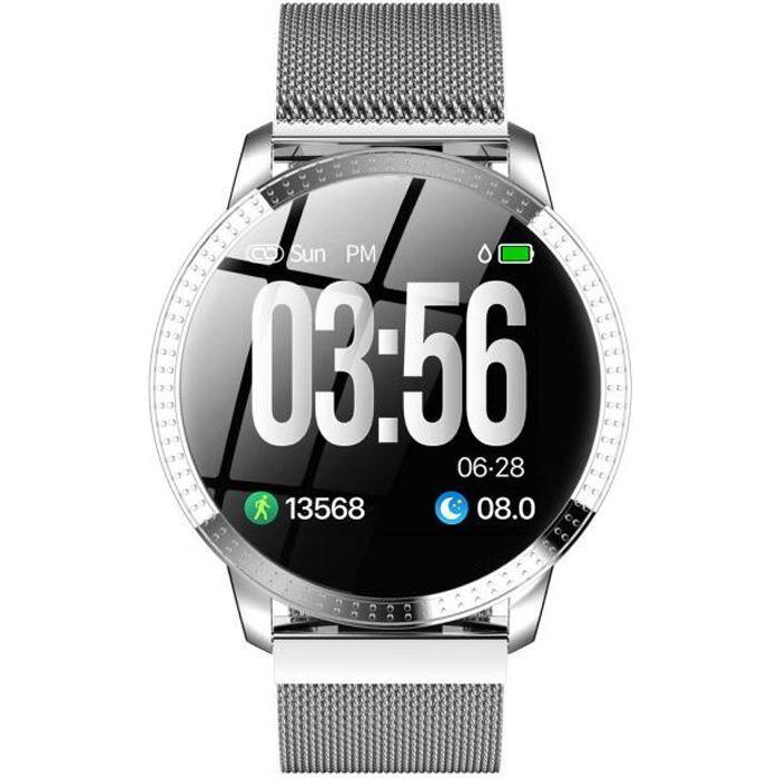 Montre Intelligente.IP67 Étanche.Mode de Sportif, Activité Tracker avec Moniteur de Veille Cardiaque Podomètre.Gris