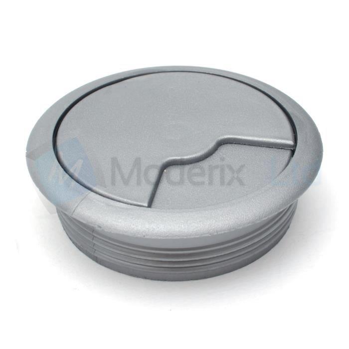 Passe cable passe fil plastique en aluminium design diamètre 80mm