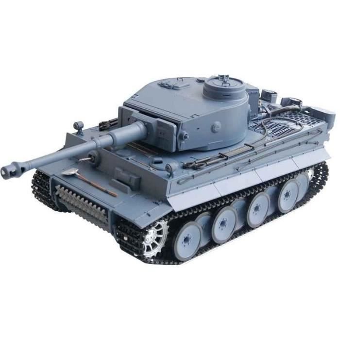 Char d´assault RC German Tiger I 1:16 2.4 Ghz - Fumée, bruit et métal (Gr