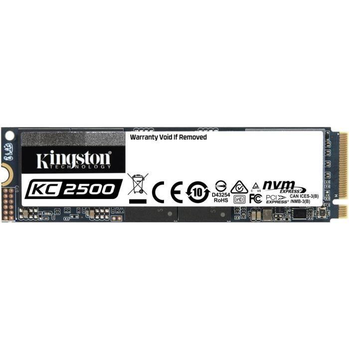 KINGSTON - SSD Interne - KC2500 - 500Go - M.2 NVMe (SKC2500M8/500G)
