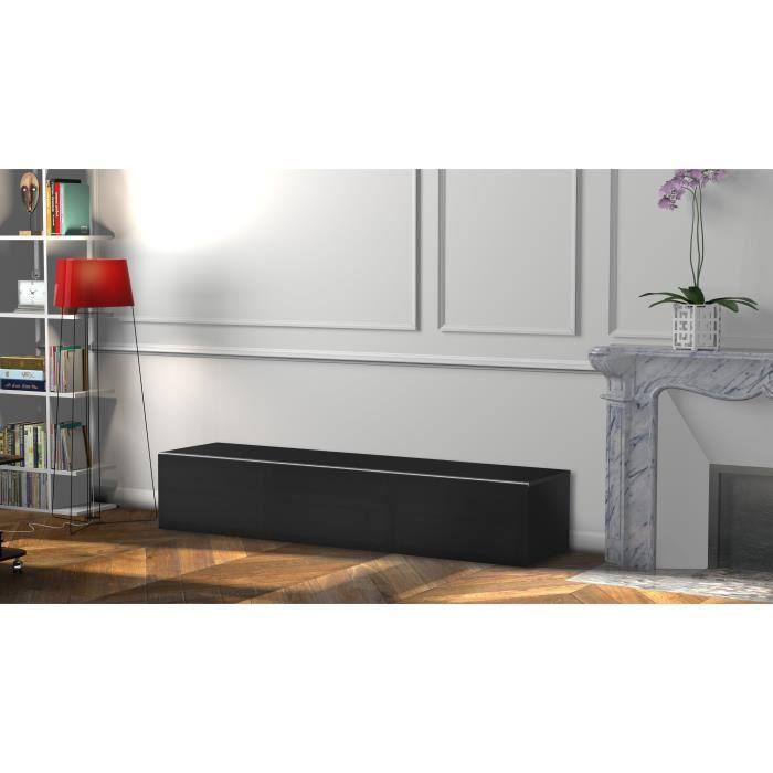 MELICONI DALLAS 160 Meuble TV - Longueur 160 cm - Porte abattante finition TEXTILE