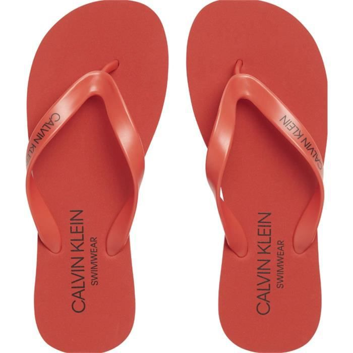 CALVIN KLEIN KM0KM00341 FF SANDALS TONG Unisexe RED