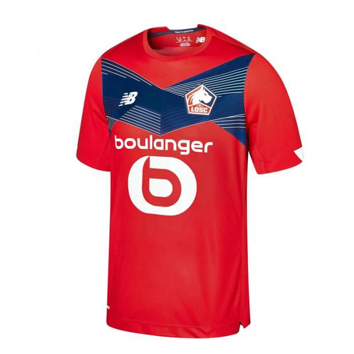 Maillot Lille OSC - 2020-2021 Maillot de Football Home Jersey - Rouge