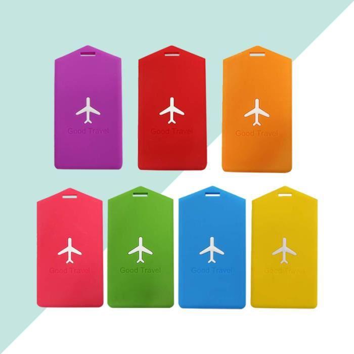 7 pièces étiquette de bagage solide sac d'embarquement à main nom de pour valise à VALISE OU BAGAGE VENDU SEUL