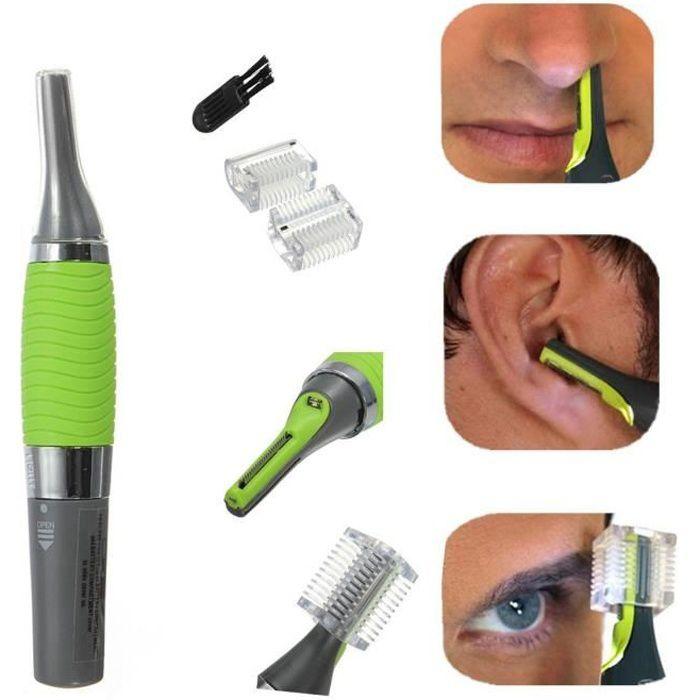 Tondeuse électrique dé précision poils, nez,oreille, barbe - LED - Sans fil