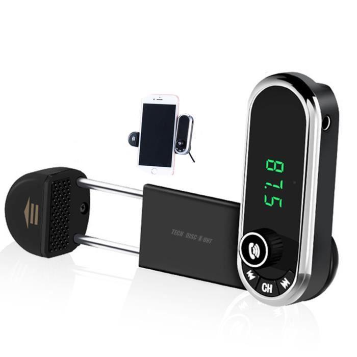 TD® Autoradio bluetooth mains libres support portable transmetteur radio FM USB multifonctions