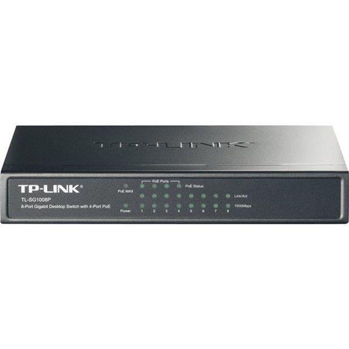 TP-LINK Switch de bureau 8 ports Gigabit 4 Ports PoE -SG1008P