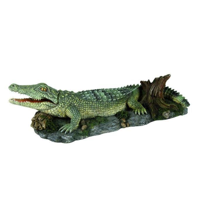 TRIXIE Décoration Crocodile 26 cm pour aquarium