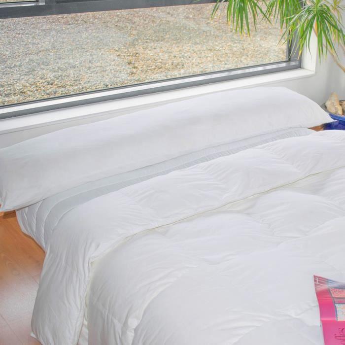 BLEU CALIN Traversin plat à mémoire de forme Mémofill 40x160 cm blanc