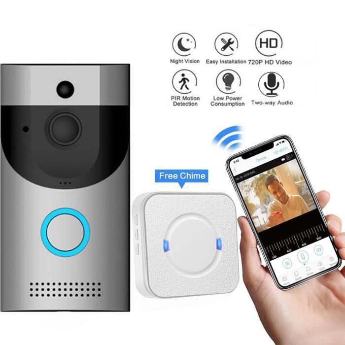 Sonnette sans fil alarme carillon de porte Bell récepteur batterie de sécurité Télécommande Portable