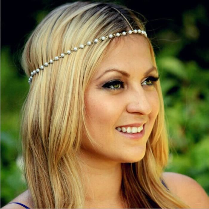 collier de perle cheveux