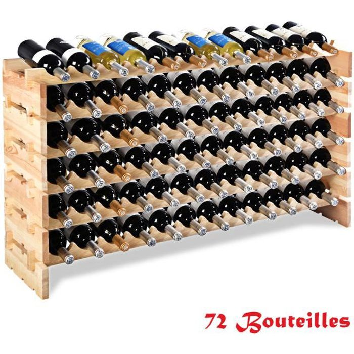 casier à vin Porte-bouteilles de vin Porte-bouteille bois étagère à vin