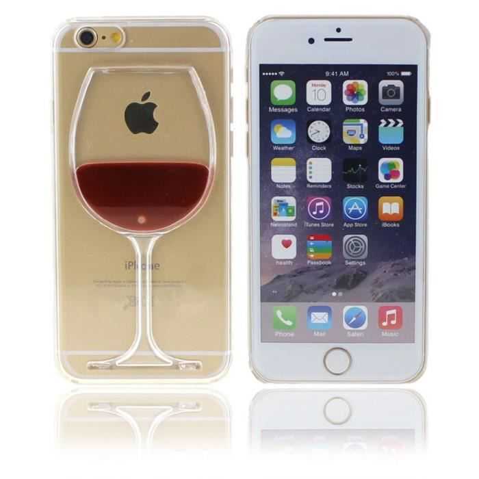 coque iphone 6 coque iphone 6s pas cher agr able verre de vin rouge rigide coque pour. Black Bedroom Furniture Sets. Home Design Ideas