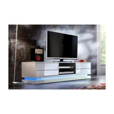 meuble tv hifi design banc de salon cuisine int rieur pas cher tv led blanc laqu clovis. Black Bedroom Furniture Sets. Home Design Ideas