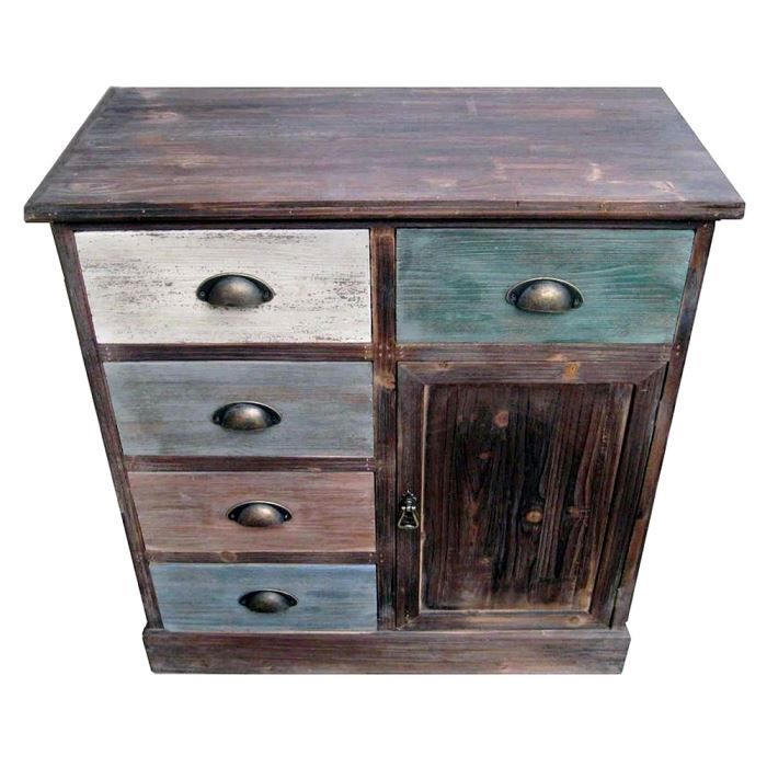 chiffonnier meuble 5 tiroirs vintage achat vente chiffonnier semainier chiffonnier meuble. Black Bedroom Furniture Sets. Home Design Ideas