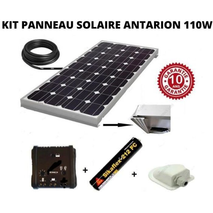 kit panneau solaire 100w monocristallin achat vente. Black Bedroom Furniture Sets. Home Design Ideas