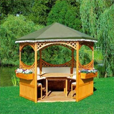 kiosque de jardin en bois pas cher. Black Bedroom Furniture Sets. Home Design Ideas