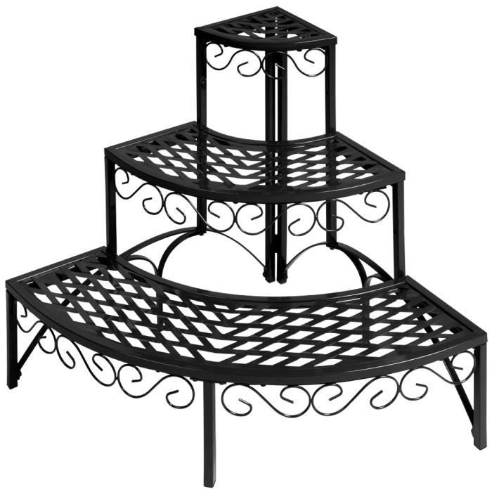 jardini re metal angle 60x60x60 cm pot de fleur achat vente bar de jardin desserte de. Black Bedroom Furniture Sets. Home Design Ideas