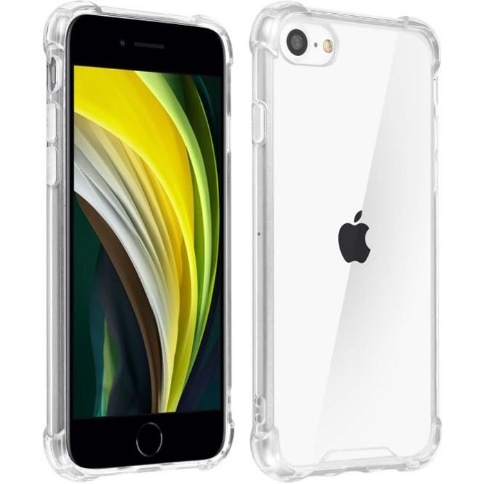 Coque iPhone SE 2020 Silicone Gel Transparent Coin