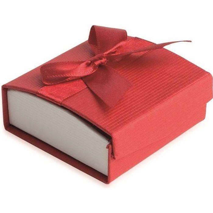 Ecrin Boucles dOreilles Rouge Boite Cadeau Bijoux Imitation Cuir