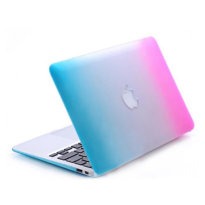 coque rigide macbook air 13 degrad rose et bleu achat coque bumper pas cher avis et. Black Bedroom Furniture Sets. Home Design Ideas