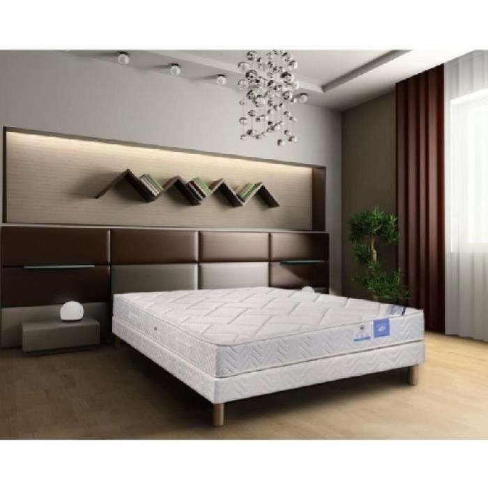 benoist belle literie ensemble matelas sommier 160x200cm 23cm 609 ressorts ensach s ferme 45kg. Black Bedroom Furniture Sets. Home Design Ideas