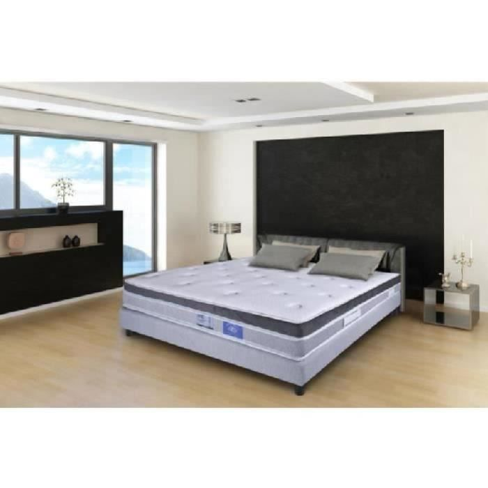 benoist belle literie ensemble sommier et matelas haute r silience 160x200. Black Bedroom Furniture Sets. Home Design Ideas