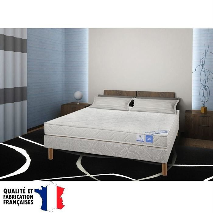 benoist belle literie ensemble matelas sommier 160x200cm 16cm mousse hr tr s ferme 35kg m. Black Bedroom Furniture Sets. Home Design Ideas