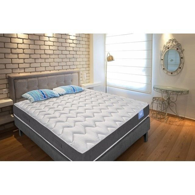 ensemble matelas sommier benoist belle literie 160x200cm mousse hr ferme 35kg m. Black Bedroom Furniture Sets. Home Design Ideas