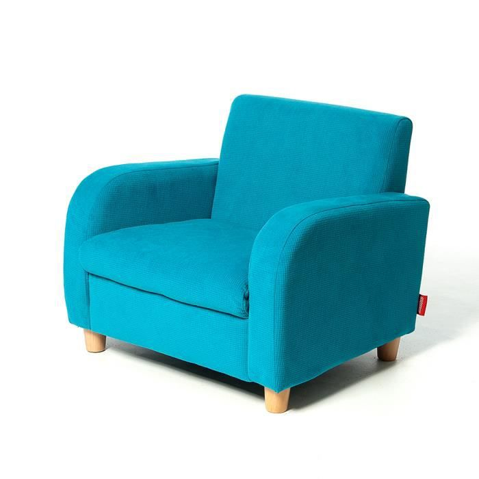 fauteuil pour enfant bleu turquoise bois et tissu momo for kids achat vente fauteuil. Black Bedroom Furniture Sets. Home Design Ideas