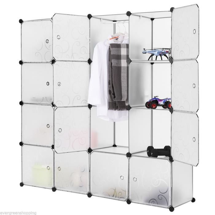 support de rangement 16 cubes organisation placard rangement multifonctionnelle combinaison pour. Black Bedroom Furniture Sets. Home Design Ideas