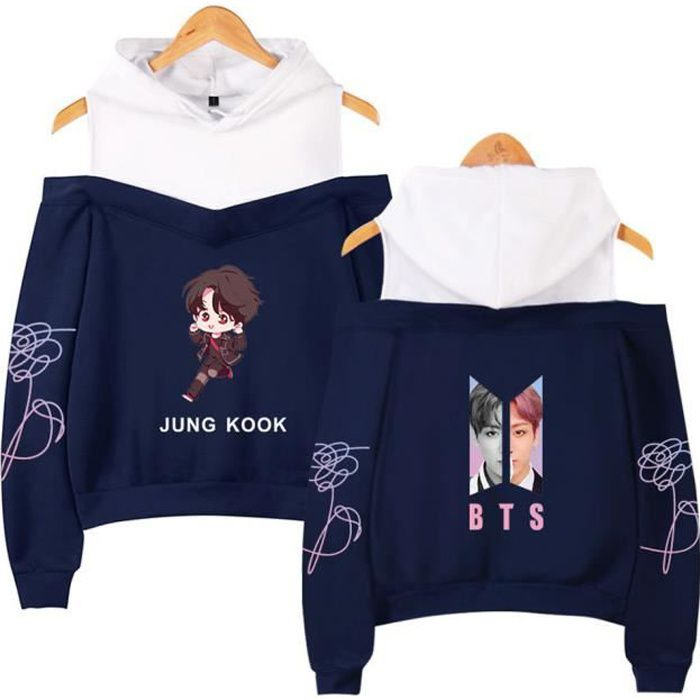 NOCY/&ZL Unisexe Femme BTS Sweatshirt Uni Love Yourself Her Bangtan Boys Pull Jimin Manches Longues Army Kpop Fan