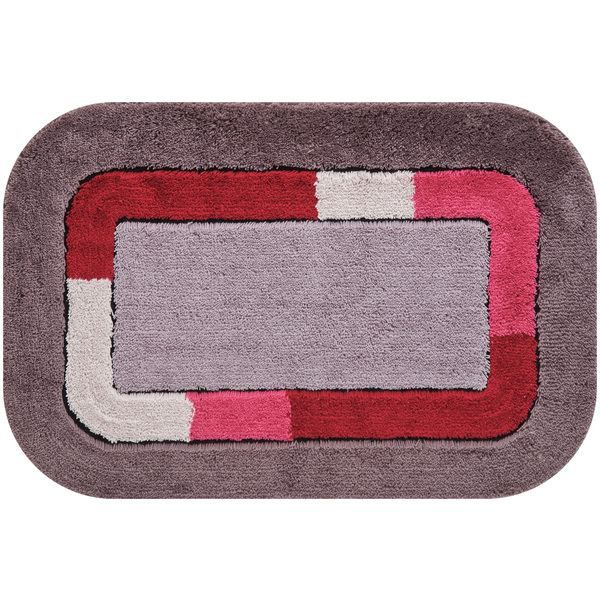 tapis de bain lafita gris et rouge achat vente tapis. Black Bedroom Furniture Sets. Home Design Ideas