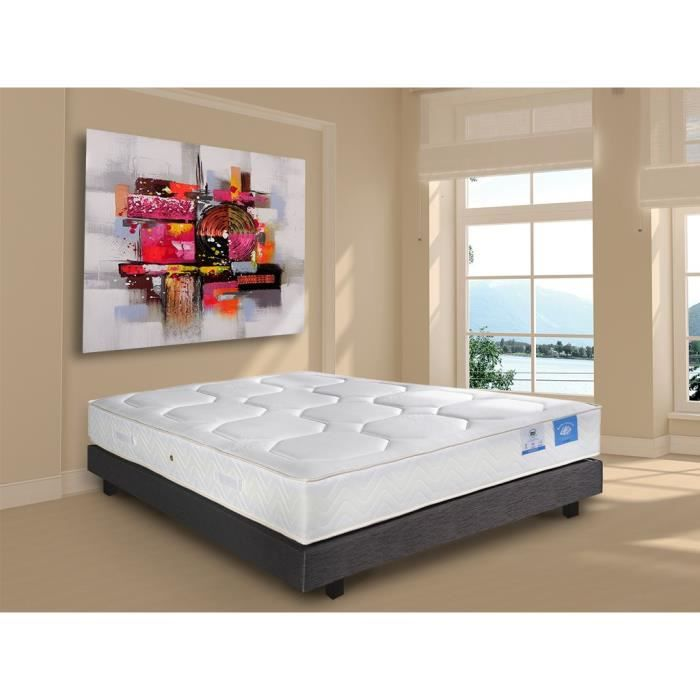 matelas belle literie 160x200cm ressorts m moire achat vente matelas cdiscount. Black Bedroom Furniture Sets. Home Design Ideas