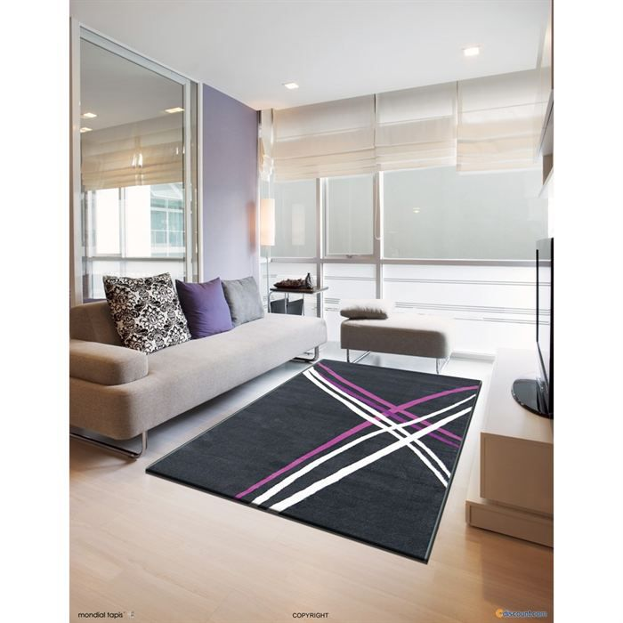 purple tapis de salon 120x160 cm achat vente tapis. Black Bedroom Furniture Sets. Home Design Ideas
