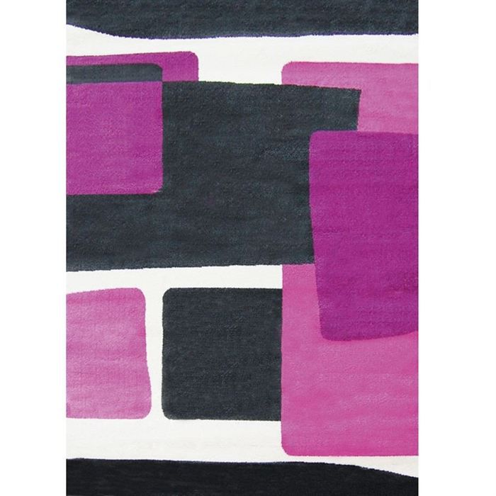 purple tapis de salon gris 120x160 cm achat vente tapis cdiscount. Black Bedroom Furniture Sets. Home Design Ideas