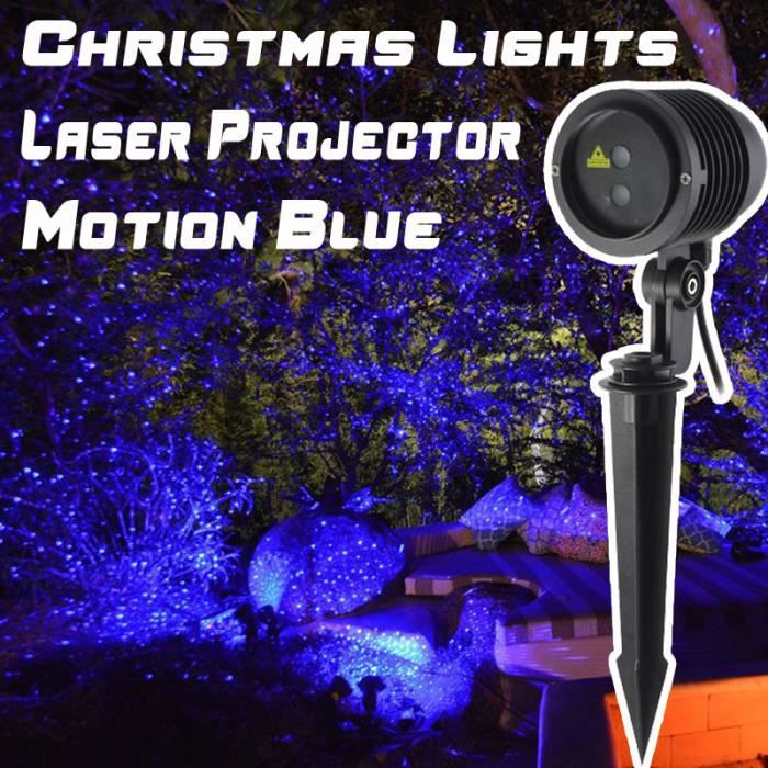 No l bleu projecteur de lumi re laser ext rieur for Eclairage noel exterieur projecteur