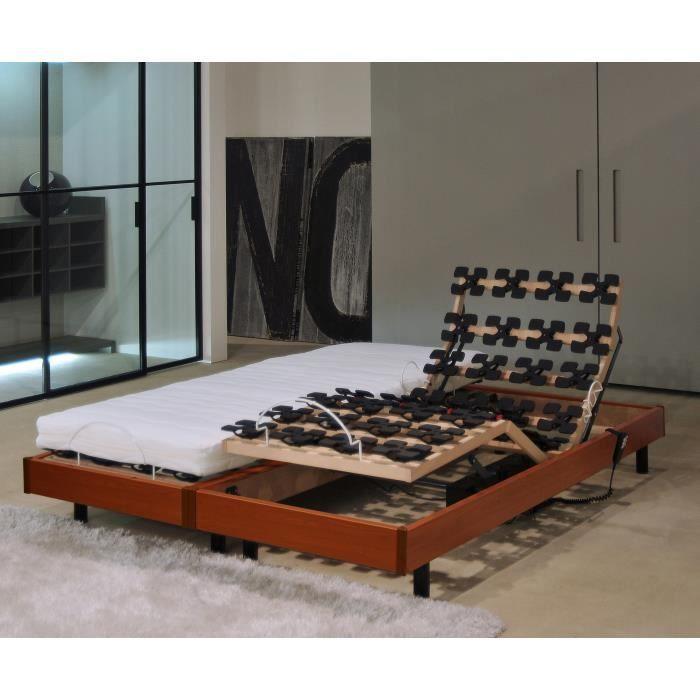 Alicante Ensemble Relaxation Matelas Sommiers électriques 2 X 80 X 200 Cm Mousse 14 Cm Ferme