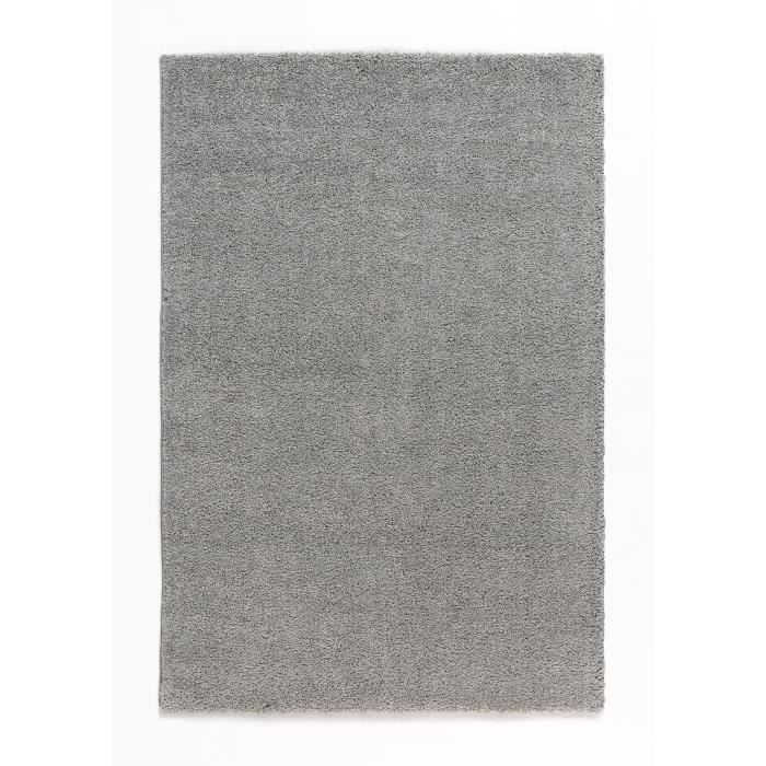 Tapis de salon shaggy trendy 30mm 120x160 cm gris achat for Tapis pour salon gris